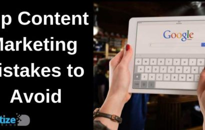 Top Content Marketing Mistakes to Avoid